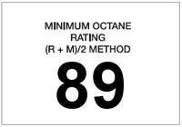 Minimum Octane Rating 89 (White)