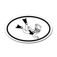 Diving Oval Sticker #1