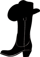 Boot With Cowboy Hat Decal