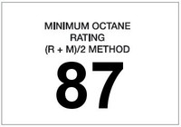 Minimum Octane Rating 87 (White)