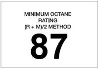 Minimum Octane Rating 87 (White)