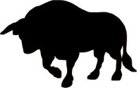 Rodeo Bull Decal #8