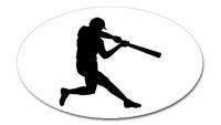 Baseball Player  -  Bumper Sticker