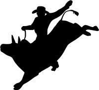 Cowboy Bull Rider Decal (Rodeo) #1