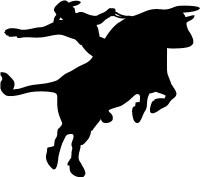 Cowboy Bull Rider Decal (Rodeo)