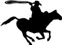 Cowboy On Horse Decal (Rodeo)