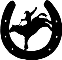 Horse Shoe Cowboy Decal