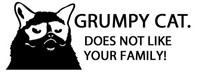 Grumpy Cat Does Not Like Your Family Decal