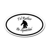 Bigfoot Oval Sticker #6