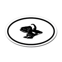 Fishing Oval Sticker