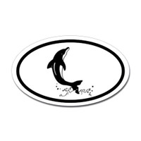 Fishing Oval Sticker #2