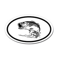 Fishing Oval Sticker #11