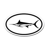 Fishing Oval Sticker #14