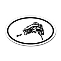 Fishing Oval Sticker #17