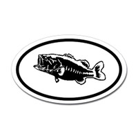 Fishing Oval Sticker #18
