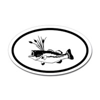 Fishing Oval Sticker #20