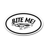 Fishing Oval Sticker