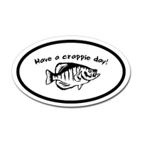 Fishing Oval Sticker #26