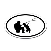Fishing Oval Sticker #27