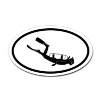Diving Oval Sticker #10