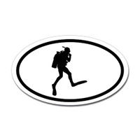 Diving Oval Sticker #11