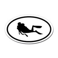 Diving Oval Sticker #14