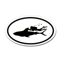 Diving Oval Sticker #16