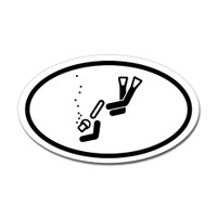 Diving Oval Sticker #18