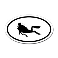 Diving Oval Sticker #19