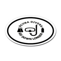 Diving Oval Sticker #20