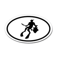 Diving Oval Sticker #22