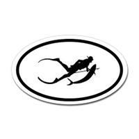 Diving Oval Sticker #23