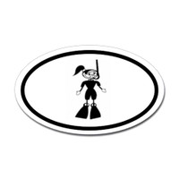 Diving Oval Sticker #24