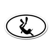 Diving Oval Sticker
