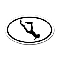 Diving Oval Sticker #27