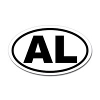 Alabama State Oval Sticker