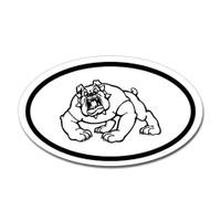 Dogs Oval Sticker #11