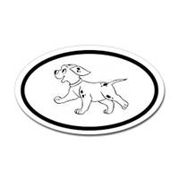 Dogs Oval Sticker #21