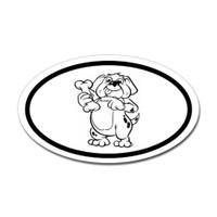 Dogs Oval Sticker #22