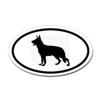 Dogs Oval Sticker #25