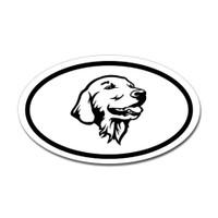 Dogs Oval Sticker #26
