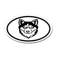 Dogs Oval Sticker #28