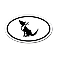 Dogs Oval Sticker