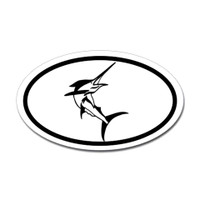 Fishing Oval Sticker #15