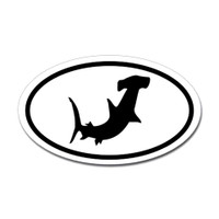 Sharks Oval Sticker