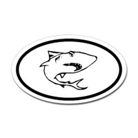 Sharks Oval Sticker #4