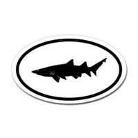 Sharks Oval Sticker #5