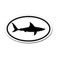 Sharks Oval Sticker #6