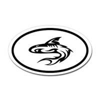 Sharks Oval Sticker #7