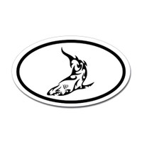 Sharks Oval Sticker #8